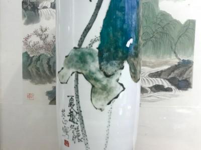 吴爱政—瓷瓶《夏趣》