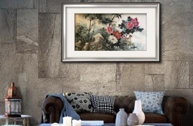 蔡育贤—《牡丹图》