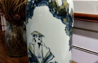 丁筱芳—瓷器《隐士图盖罐》