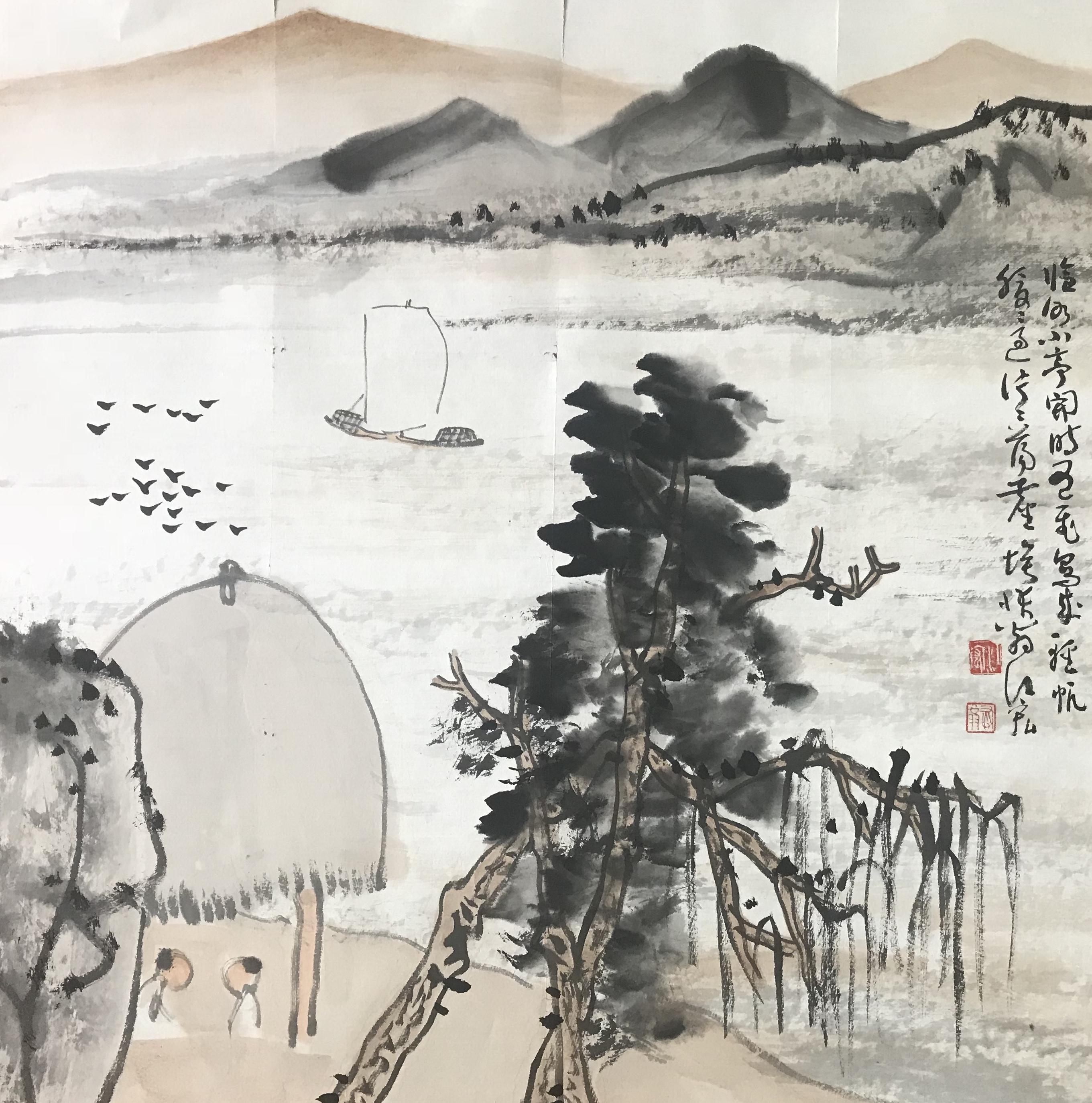 江宏—《临水小亭》