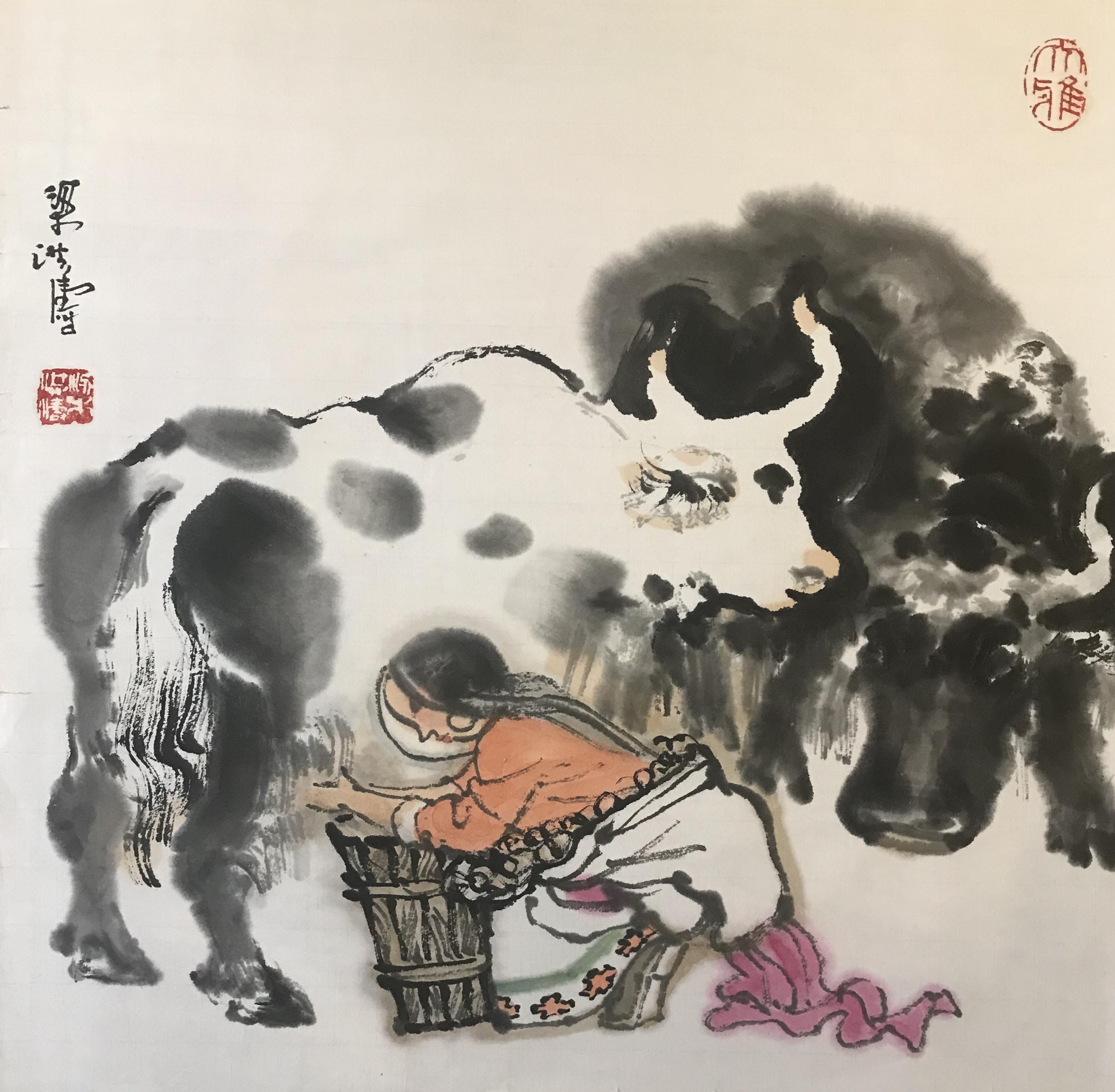 梁洪涛—《挤牛奶》