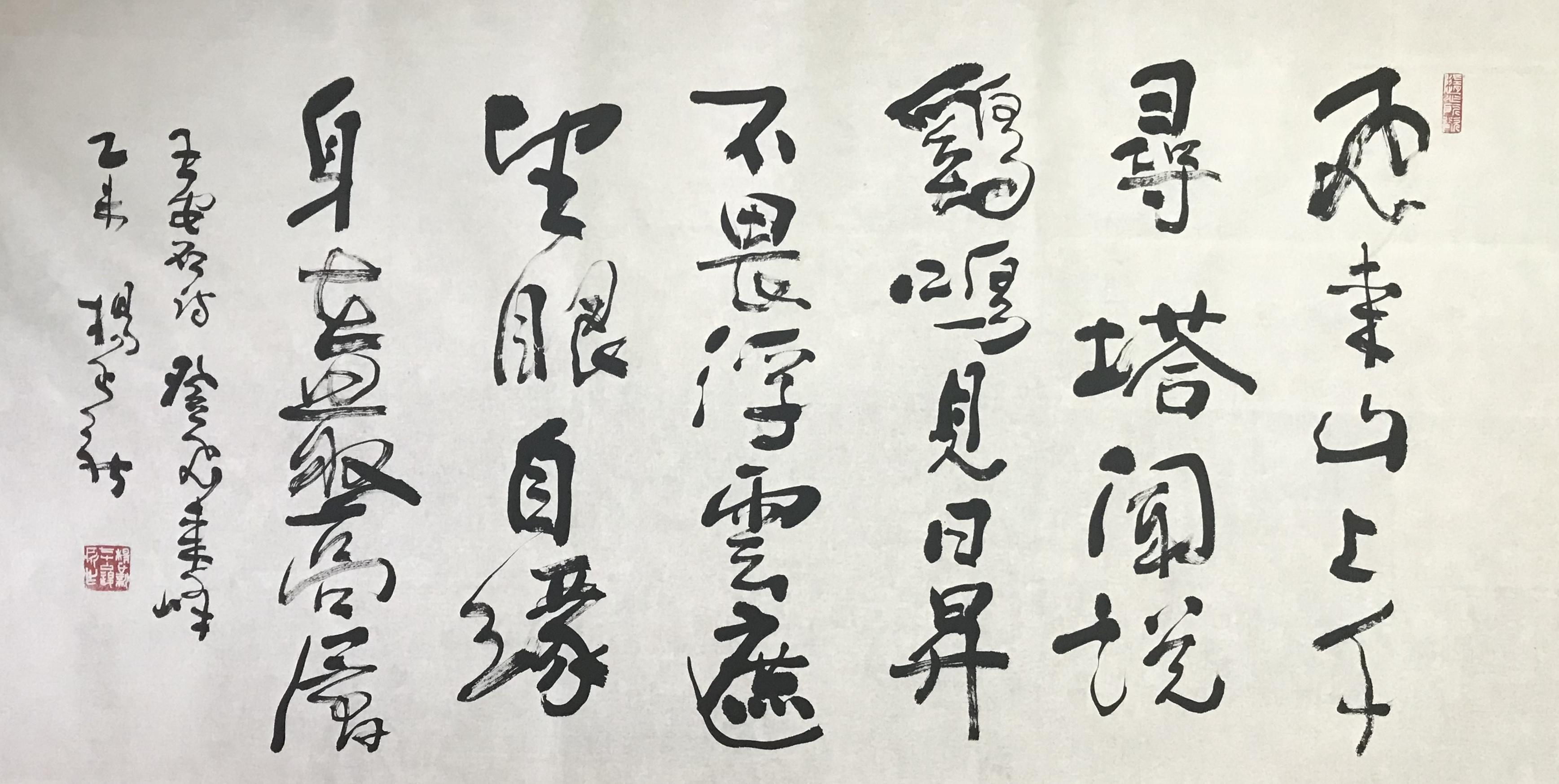 杨正新—王安石《登飞来峰 》