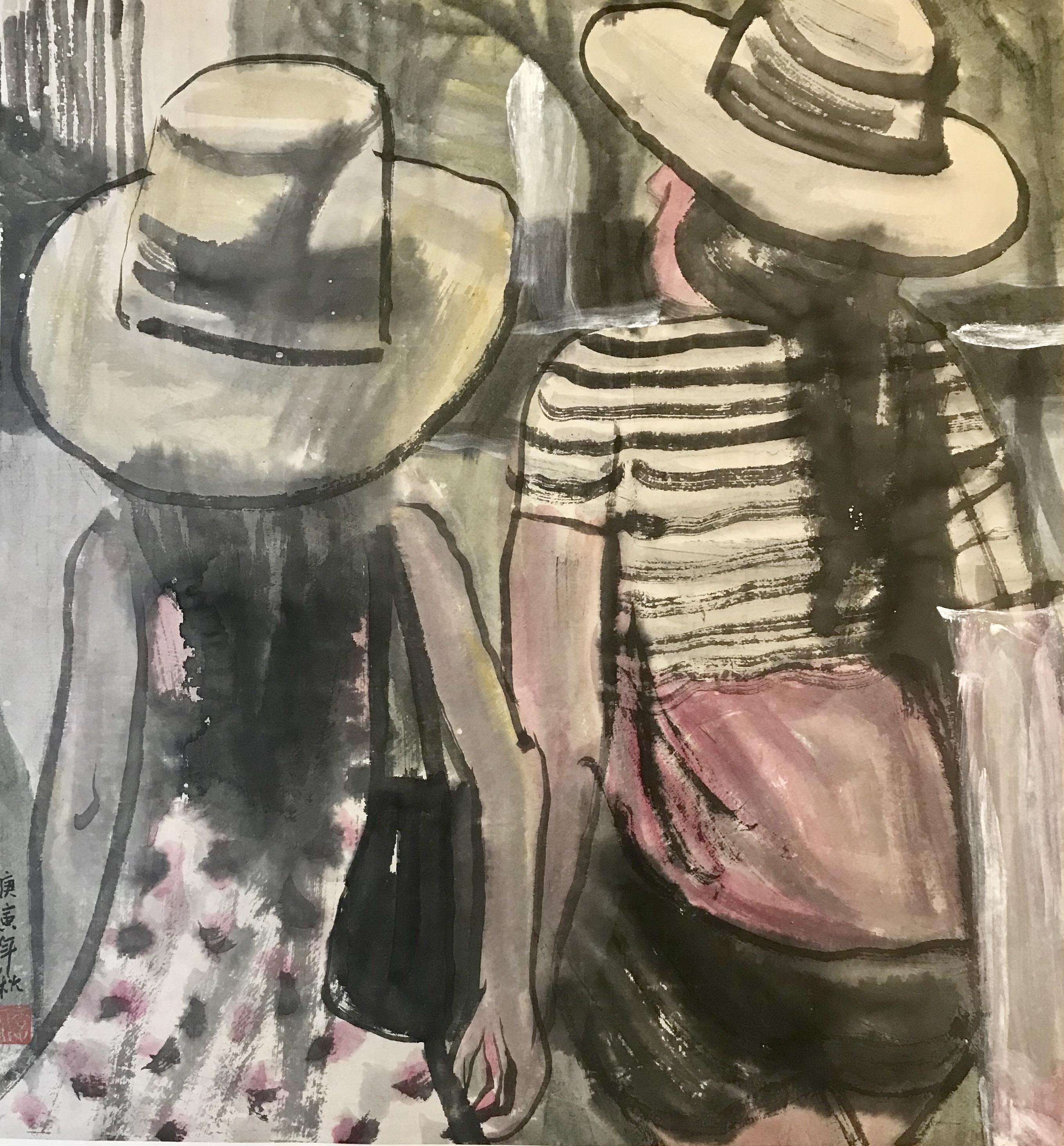 季平—《两个小姑娘》