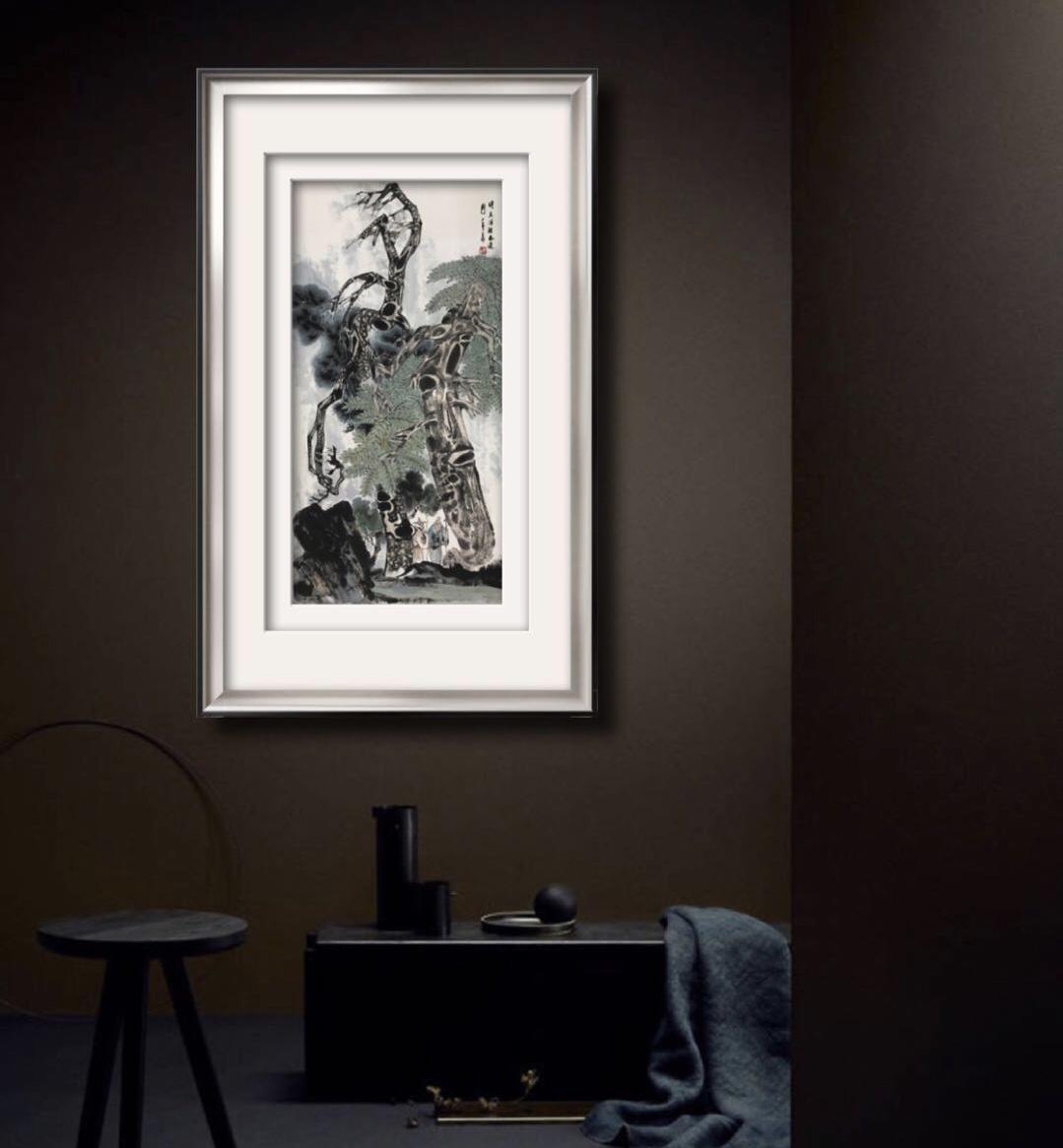 赵仁年—《松下高士图》